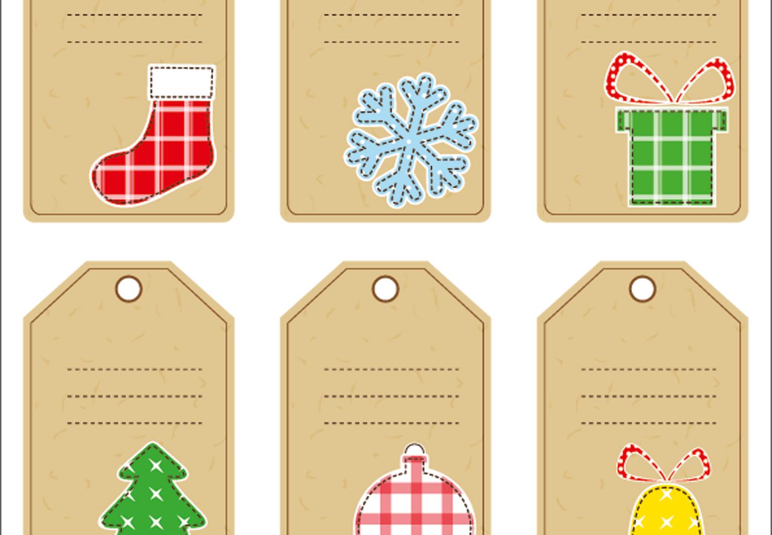 Des Étiquettes De Noël À Imprimer - Femme Actuelle intérieur Etiquette Noel À Imprimer