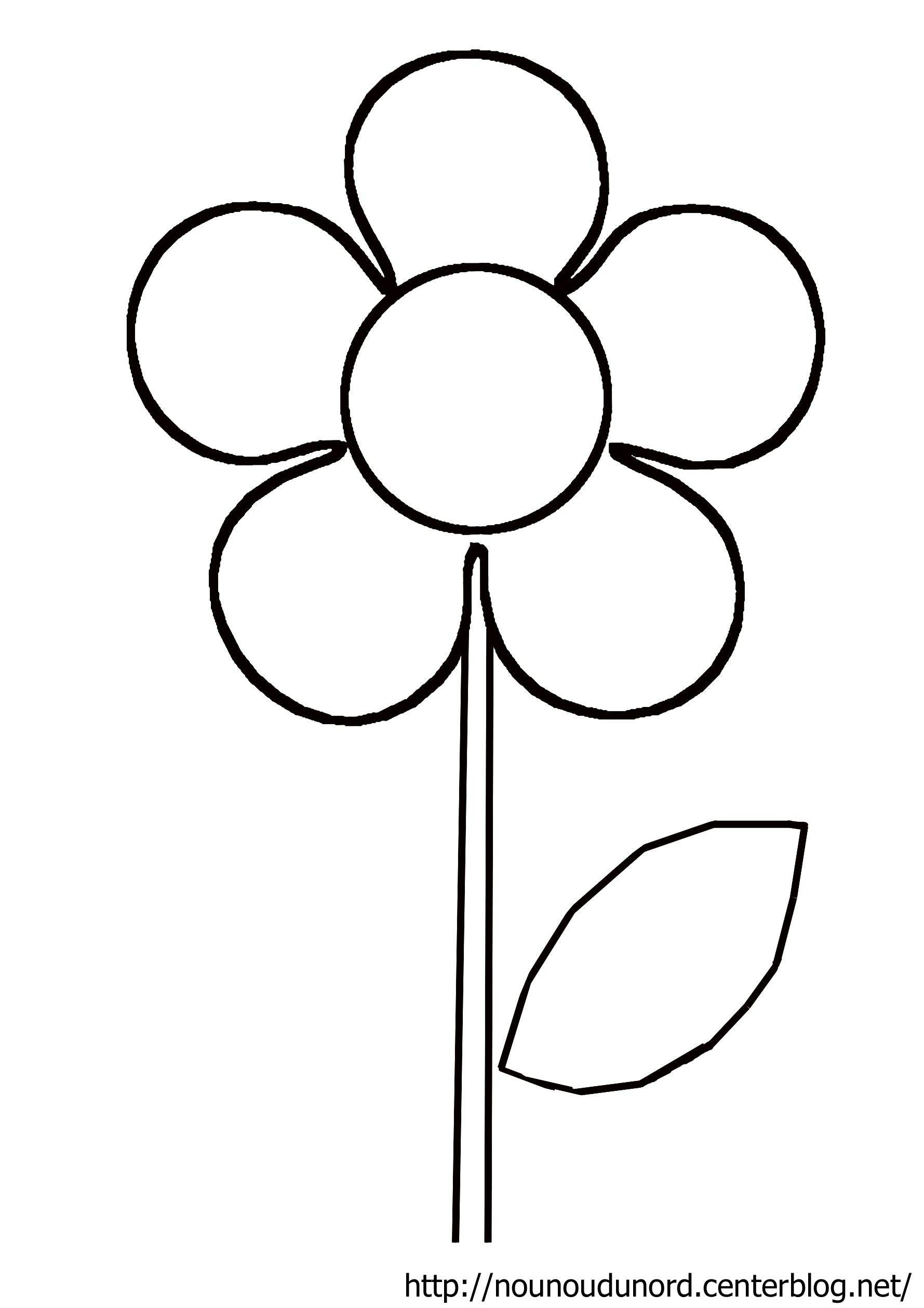 Des Fleurs En Playmaïs | Fleur Dessin Facile, Coloriage pour Dessin A Colorier De Fleur