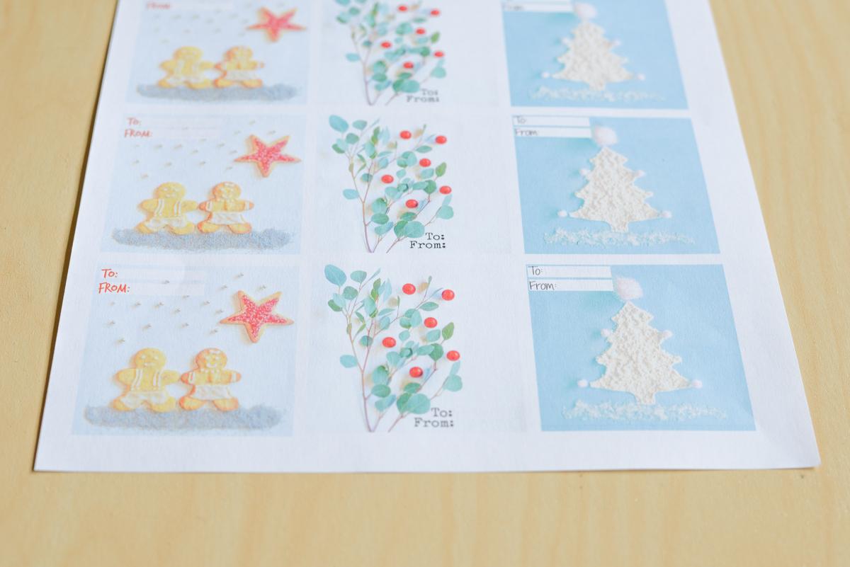 Des Jolies Étiquettes De Noël À Imprimer - Joli Bonheur - Un concernant Etiquette Noel À Imprimer