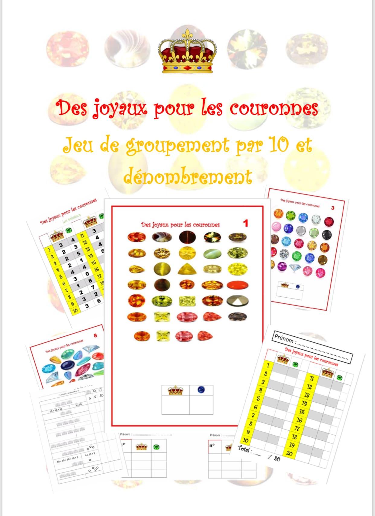 Des Joyaux Pour Les Couronnes - Jeu De Groupement Par 10 serapportantà Jeux De Maitresse A Imprimer