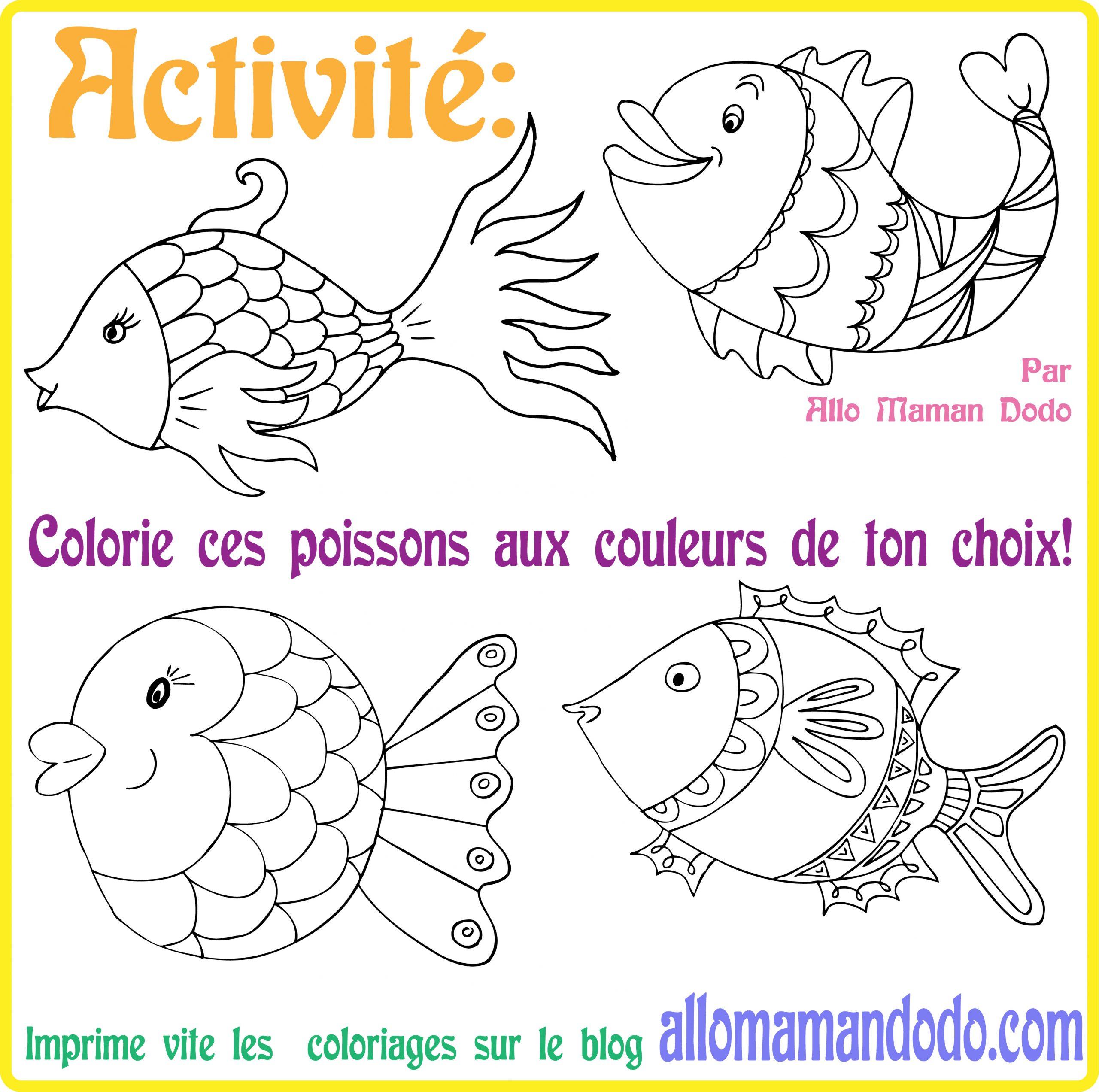 Des Poissons À Imprimer, Colorier, Et Accrocher! (Poisson D destiné Dessin De Poisson D Avril A Imprimer