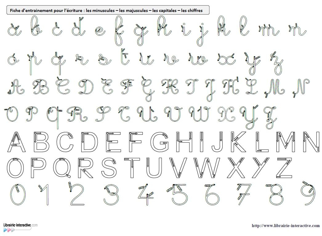 Des Référents A4 Avec Les Modèles D'écriture (Cursives intérieur Modele Alphabet Majuscule