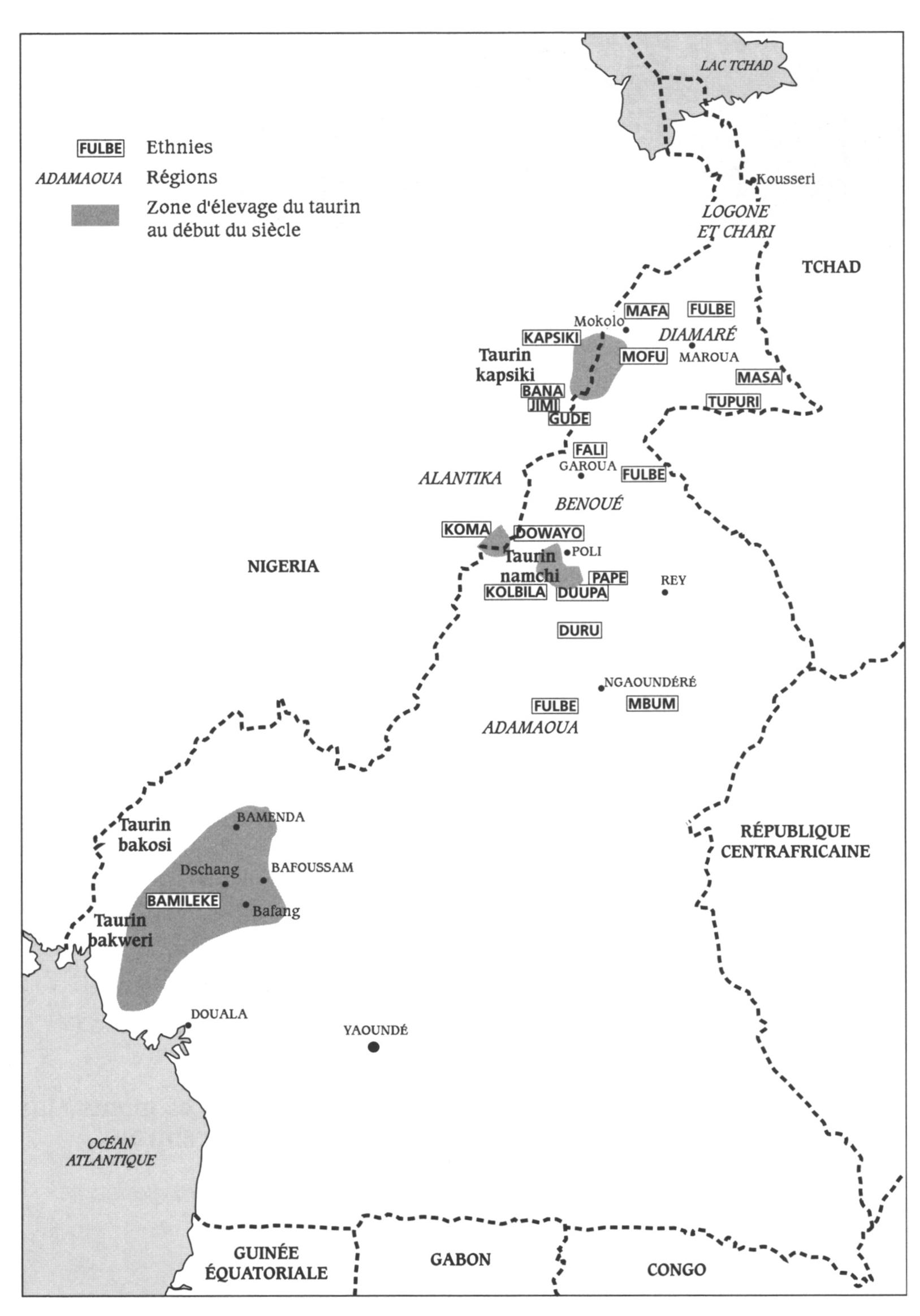 Des Taurins Et Des Hommes - Taurins Du Cameroun, Une avec Prohibé Mots Fléchés