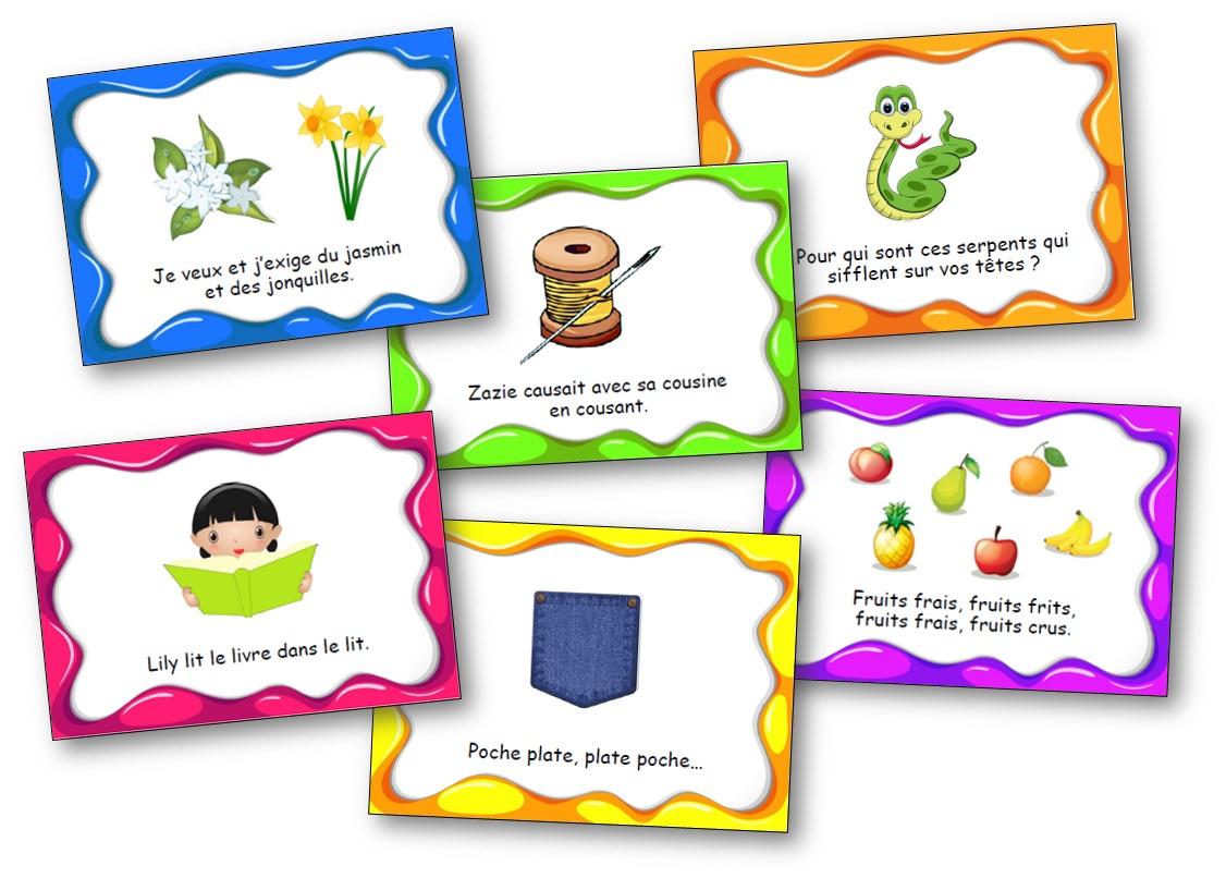 Des Virelangues Pour Jouer Avec Les Mots Et S'entraîner À à Jeux De Maternelle À Imprimer