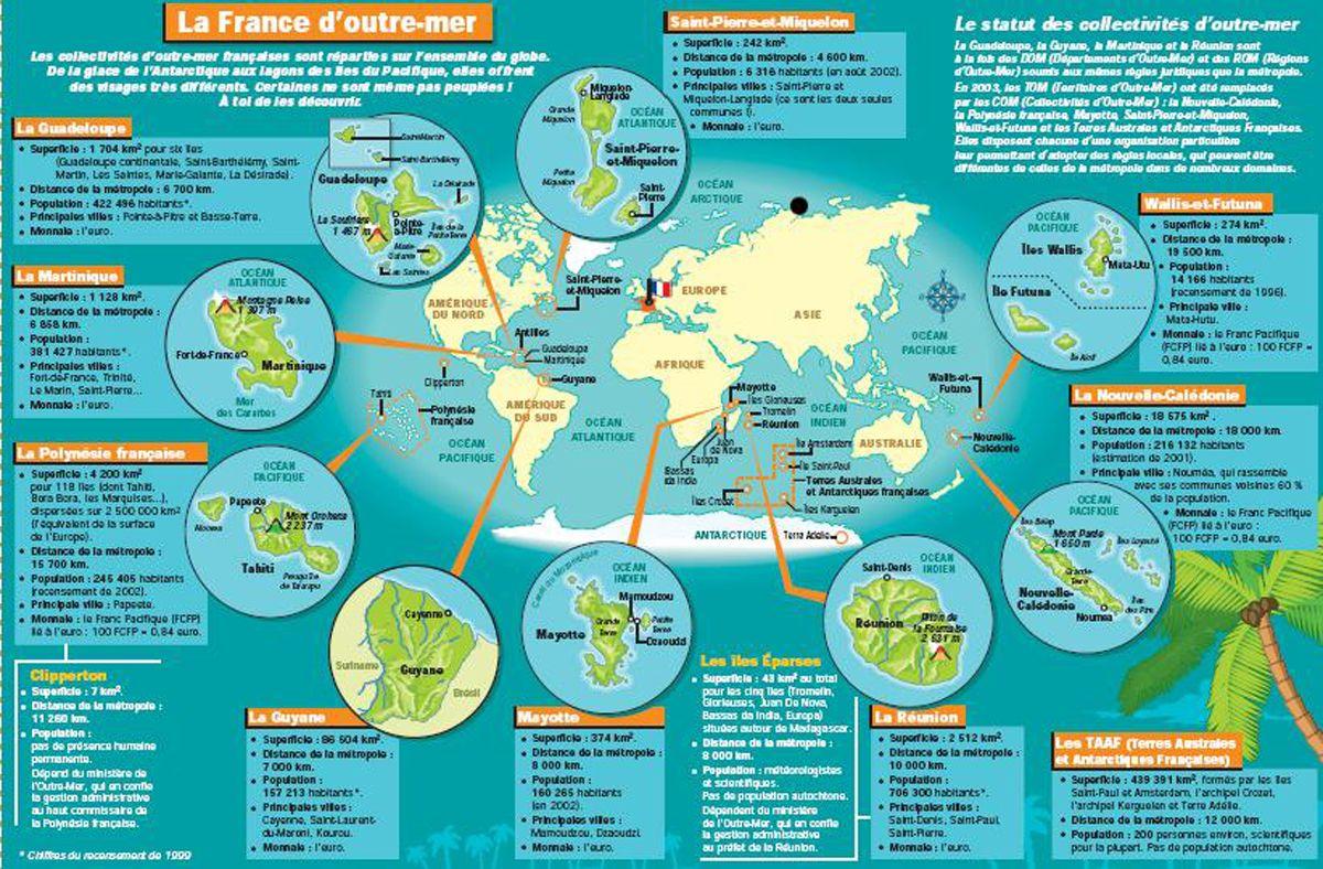 Description Territoires D'outre Mer Français | Outre Mer encequiconcerne Département D Outre Mer Carte