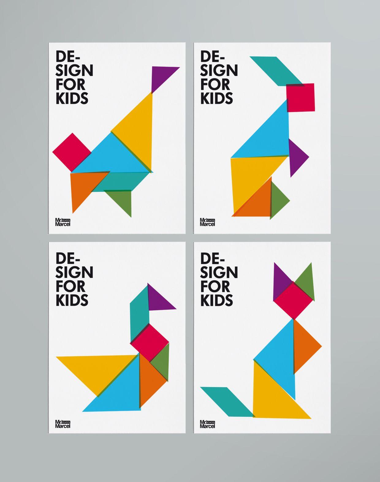 Design For Kids | Graphisme, Logo Enfant, Graphic à Tangram Enfant