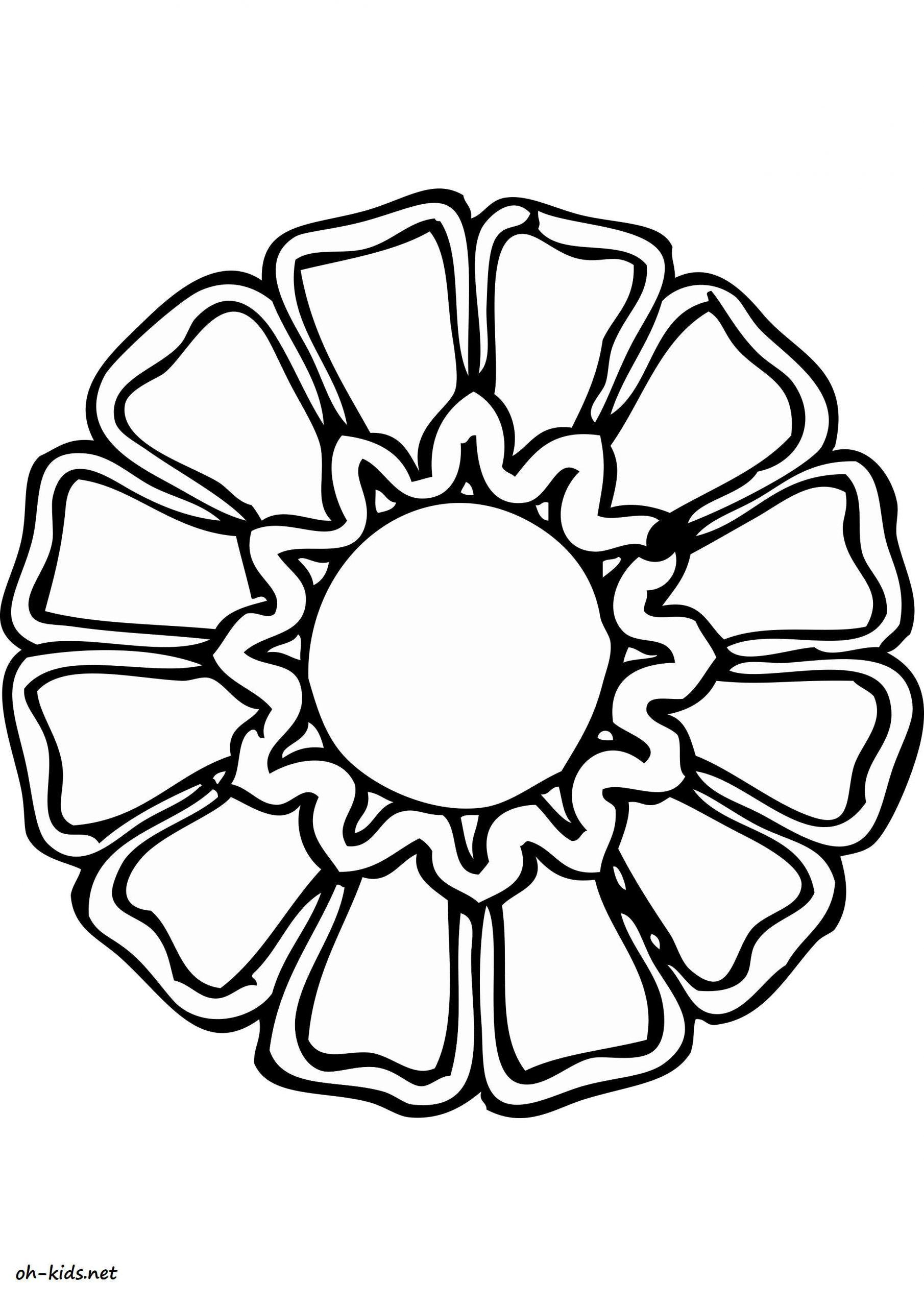 Dessin #1172 - Coloriage Rosace À Imprimer - Oh-Kids encequiconcerne Rosace A Imprimer