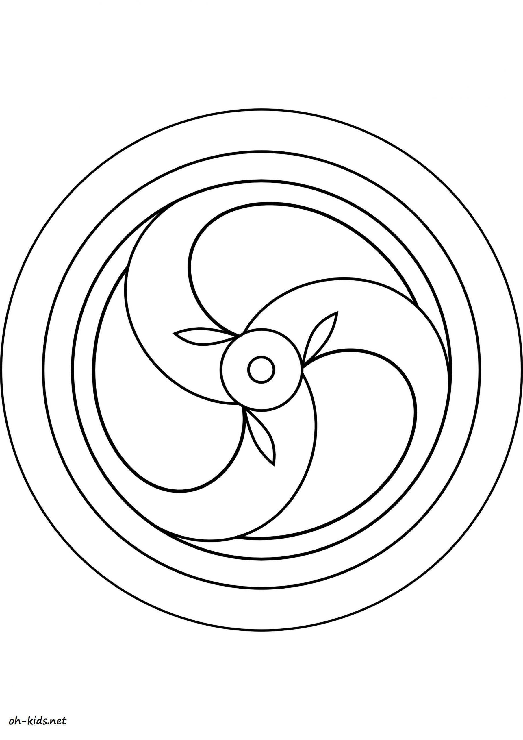 Dessin #1174 - Coloriage Rosace À Imprimer - Oh-Kids intérieur Rosace A Imprimer