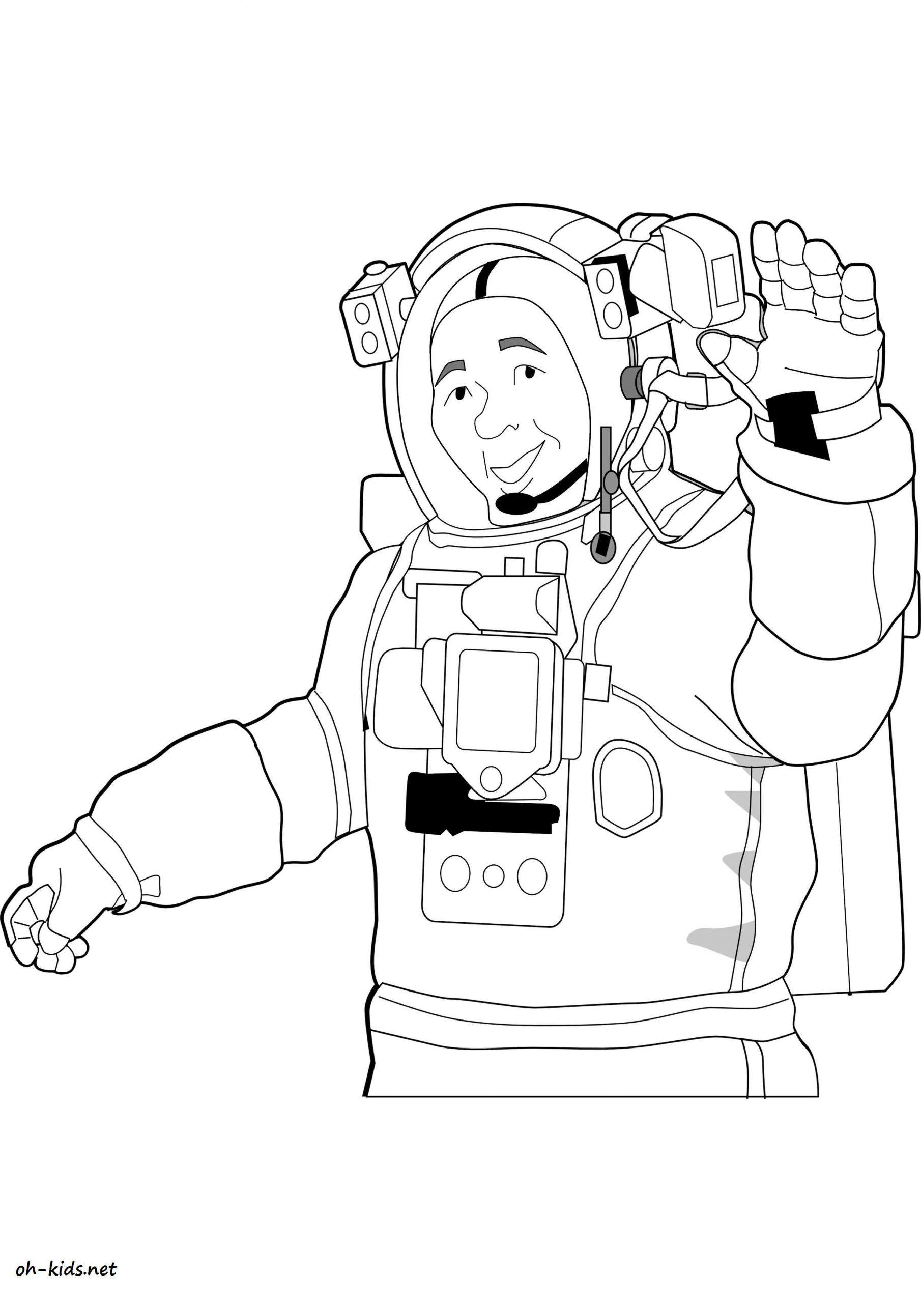 Dessin #1490 - Coloriage Astronaute À Imprimer - Oh-Kids avec Coloriage Astronaute