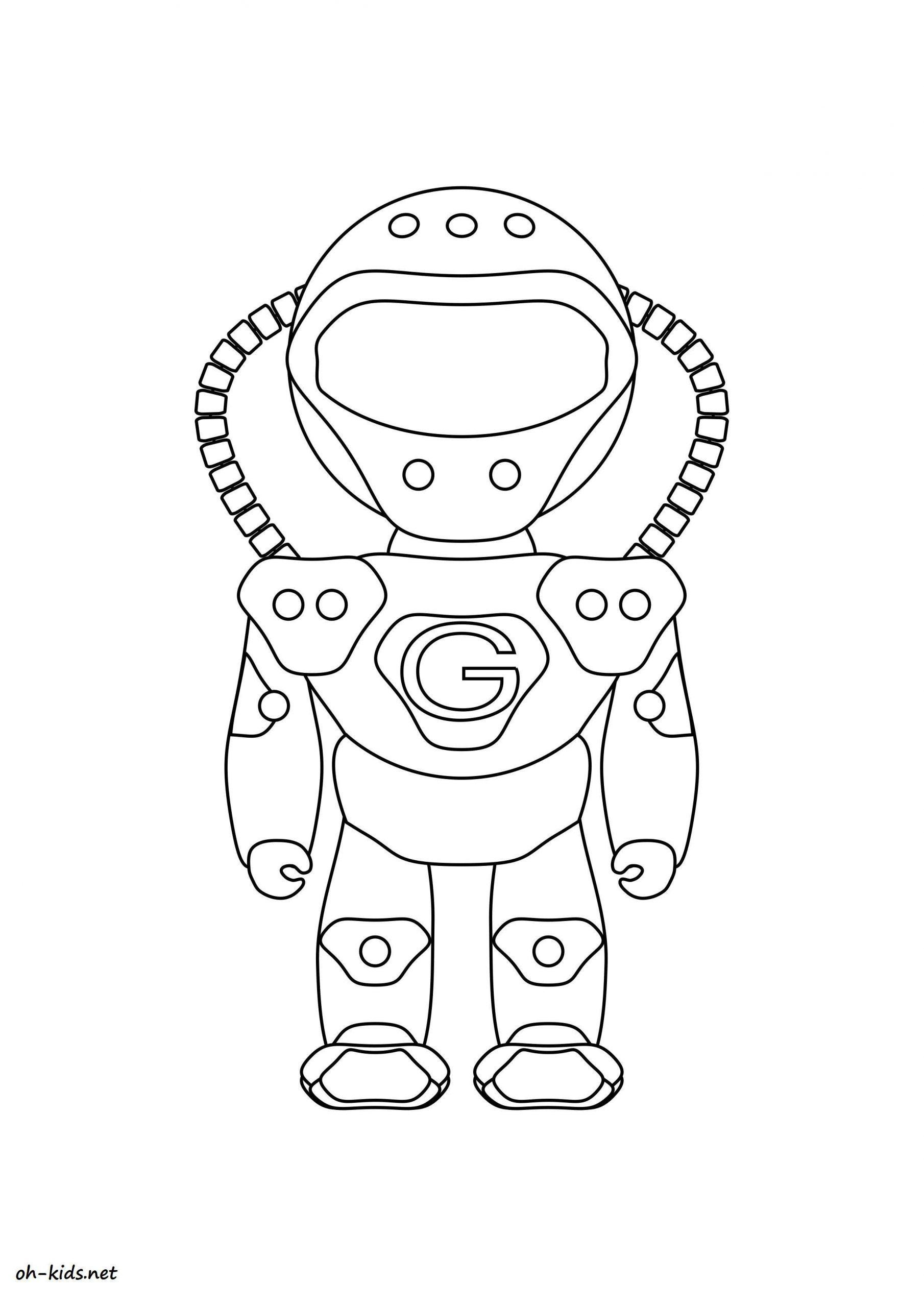 Dessin #1496 - Coloriage Astronaute À Imprimer - Oh-Kids tout Coloriage Astronaute