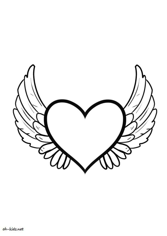 Dessin #275 - Coloriage Saint-Valentin À Imprimer - Oh-Kids dedans Dessin Pour La Saint Valentin