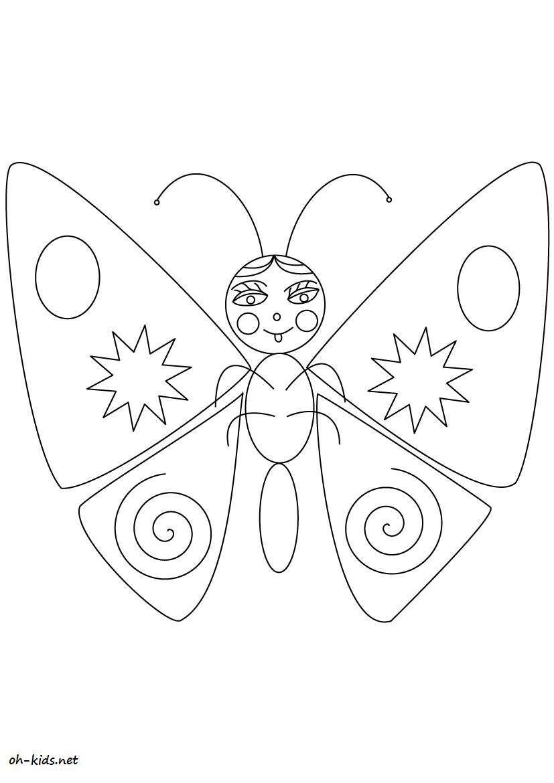 Dessin #474 - Coloriage Magnifique Papillon À Imprimer - Oh pour Dessin Papillon À Colorier