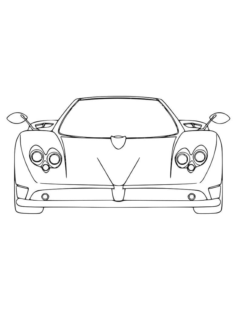 Dessin #922 - Coloriage Ferrari À Imprimer - Oh-Kids pour Ferrari A Colorier