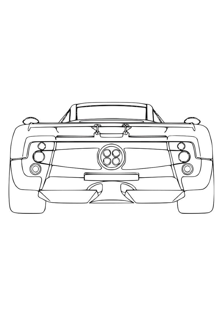 Dessin #924 - Coloriage Ferrari À Imprimer - Oh-Kids tout Ferrari A Colorier
