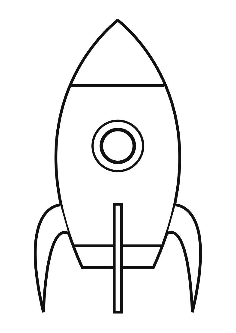 Dessin #942 - Coloriage Fusée À Imprimer - Oh-Kids tout Fusée À Imprimer
