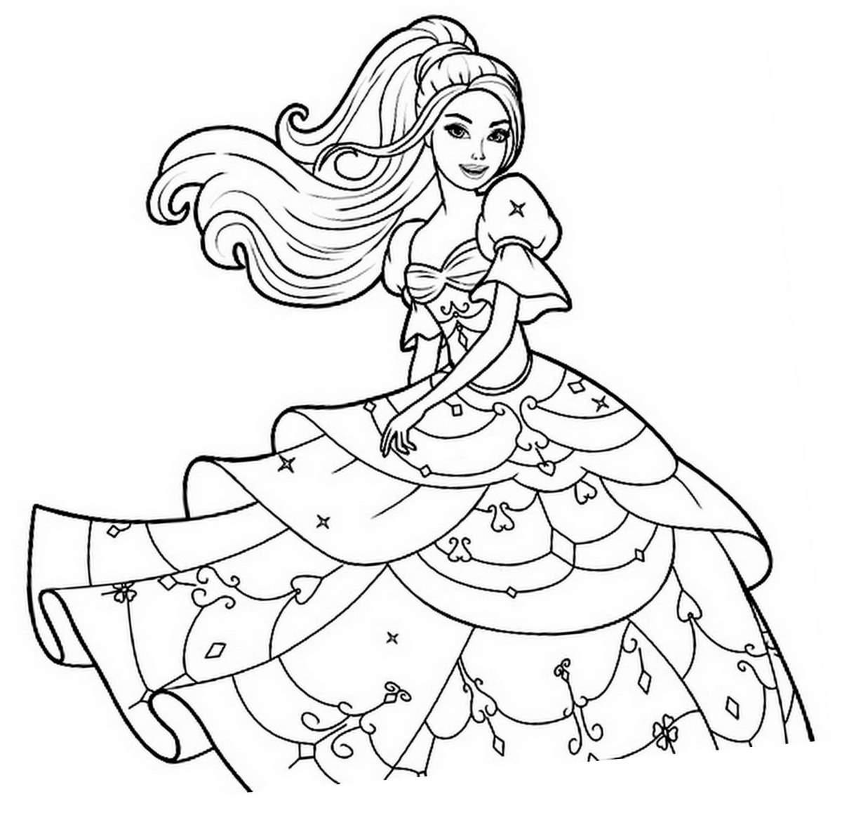 Dessin A Colorier A Imprimer Princesse serapportantà Coloriage Princesses Disney À Imprimer