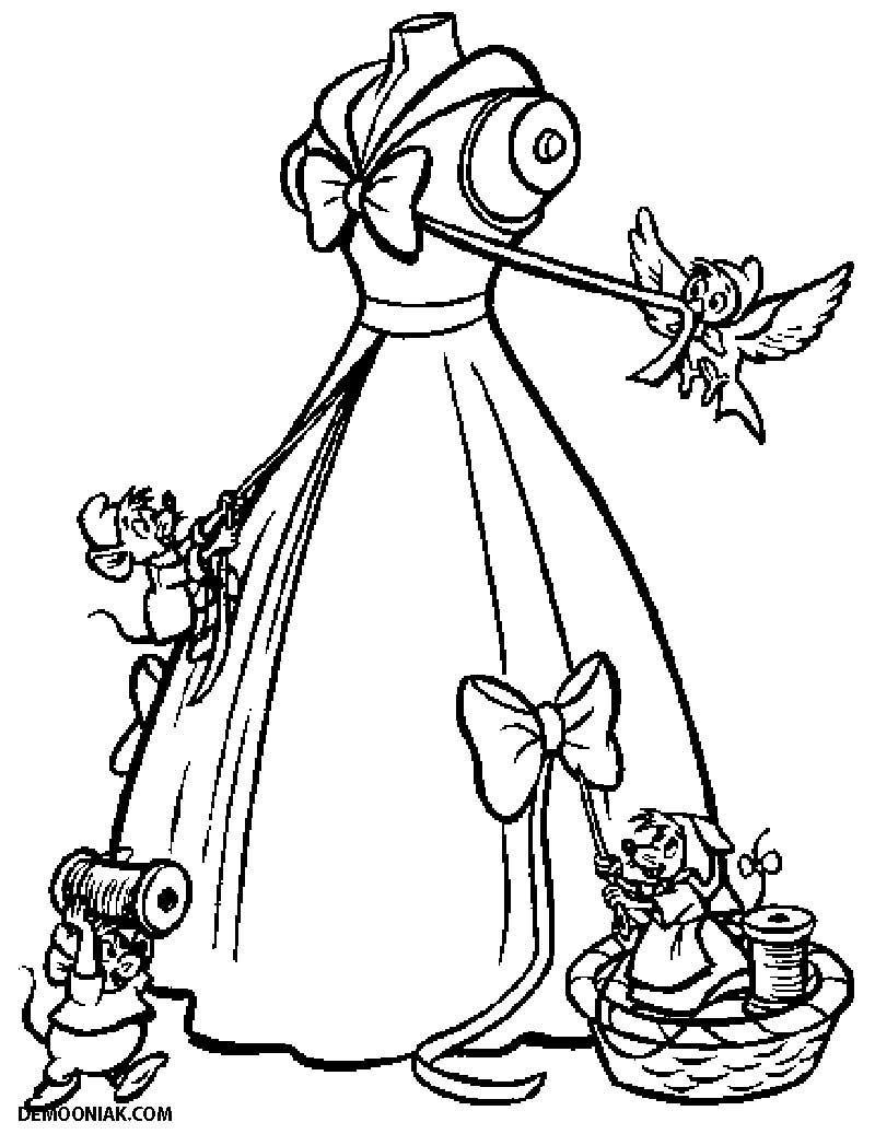Dessin À Colorier: Cendrillon (Films D'animation) #95 dedans Cendrillon À Colorier