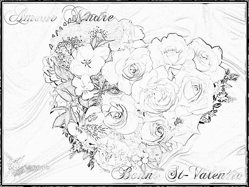 Dessin À Colorier En Ligne Gratuit St Valentin concernant Dessin À Colorier En Ligne Gratuit