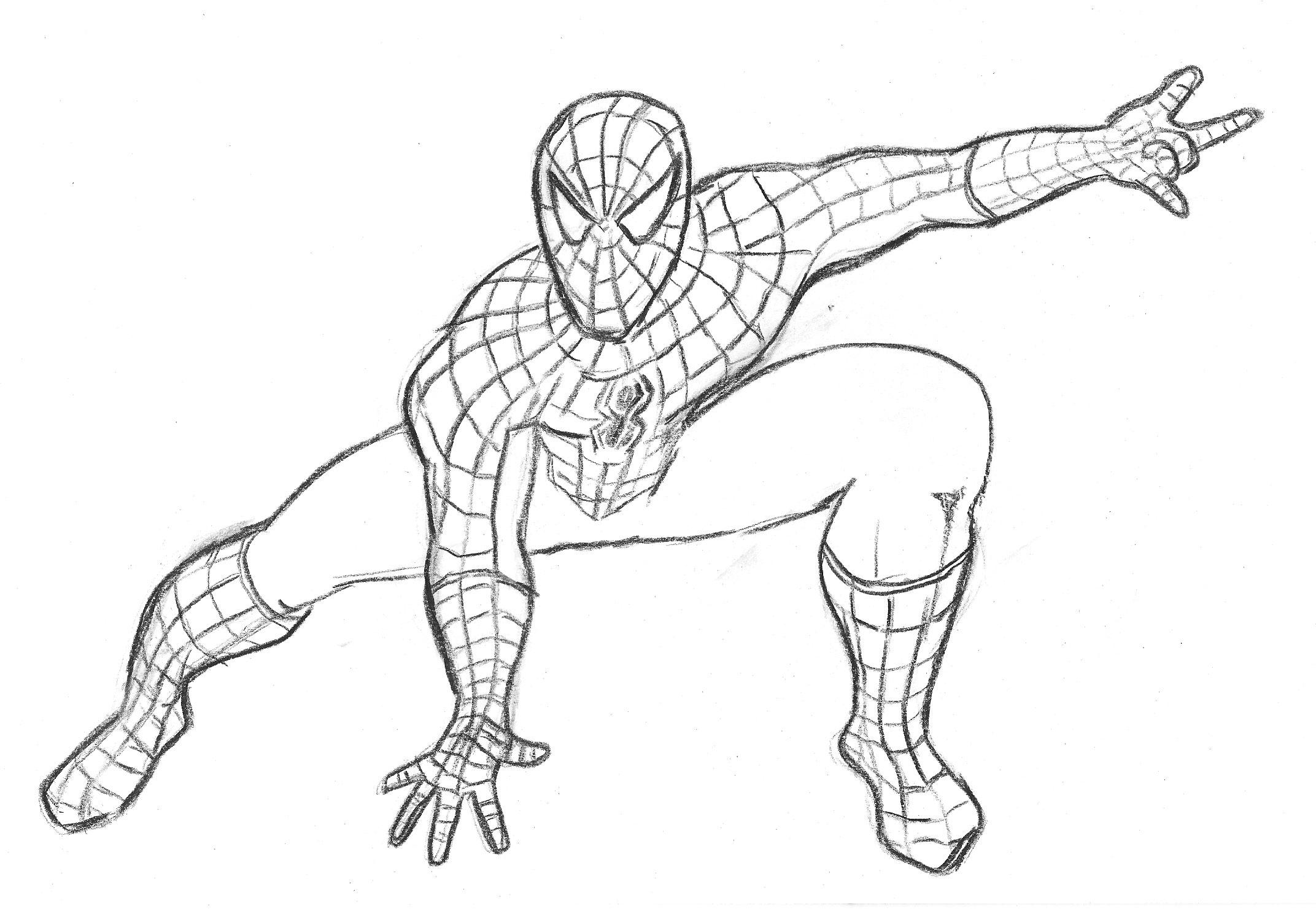 Dessin A Colorier Et Imprimer Spiderman pour Masque Spiderman A Imprimer