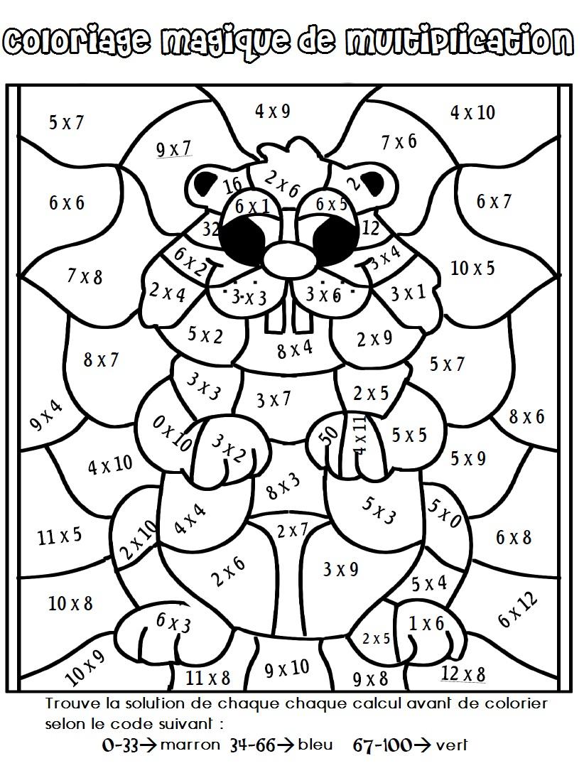 Dessin À Colorier Magique Ce1 Complément À 10 serapportantà Coloriage Chiffres 1 À 10