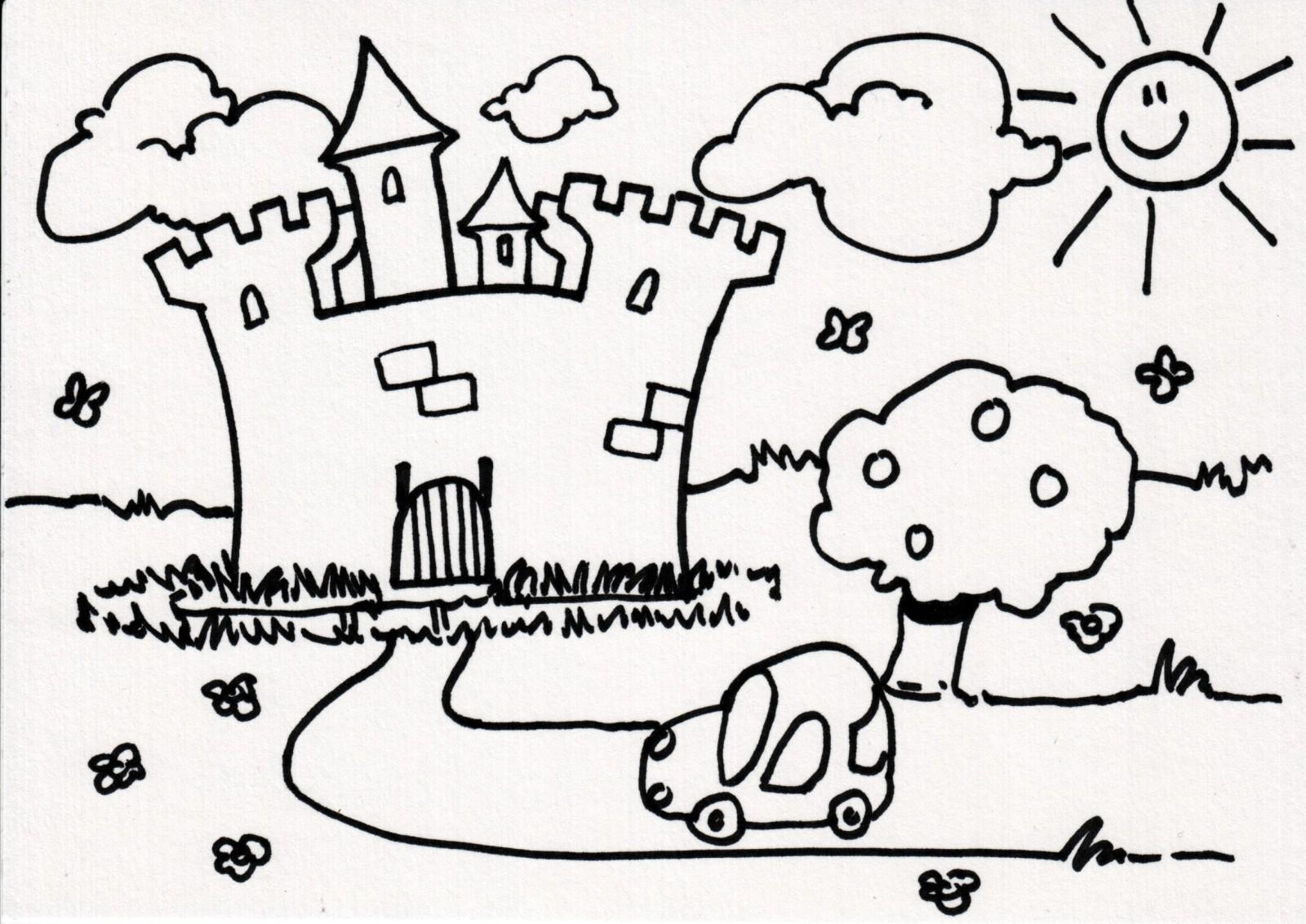 Dessin À Colorier Magique Chateau Fort à Image De Chateau Fort A Imprimer