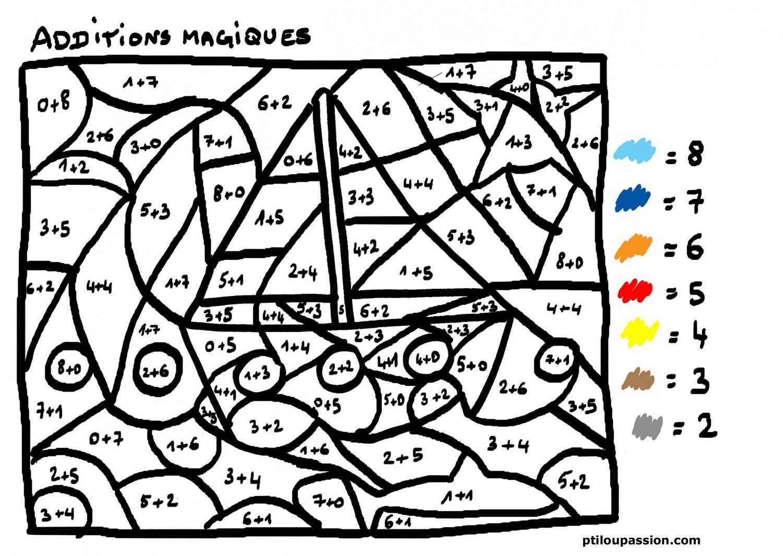 Dessin À Colorier Magique Soustraction Cp Ce1 intérieur Coloriage Codé Cp