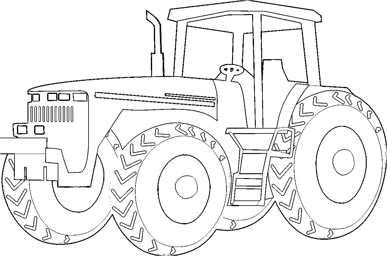 Dessin A Imprimer Tracteur Forestier encequiconcerne Tracteur À Colorier