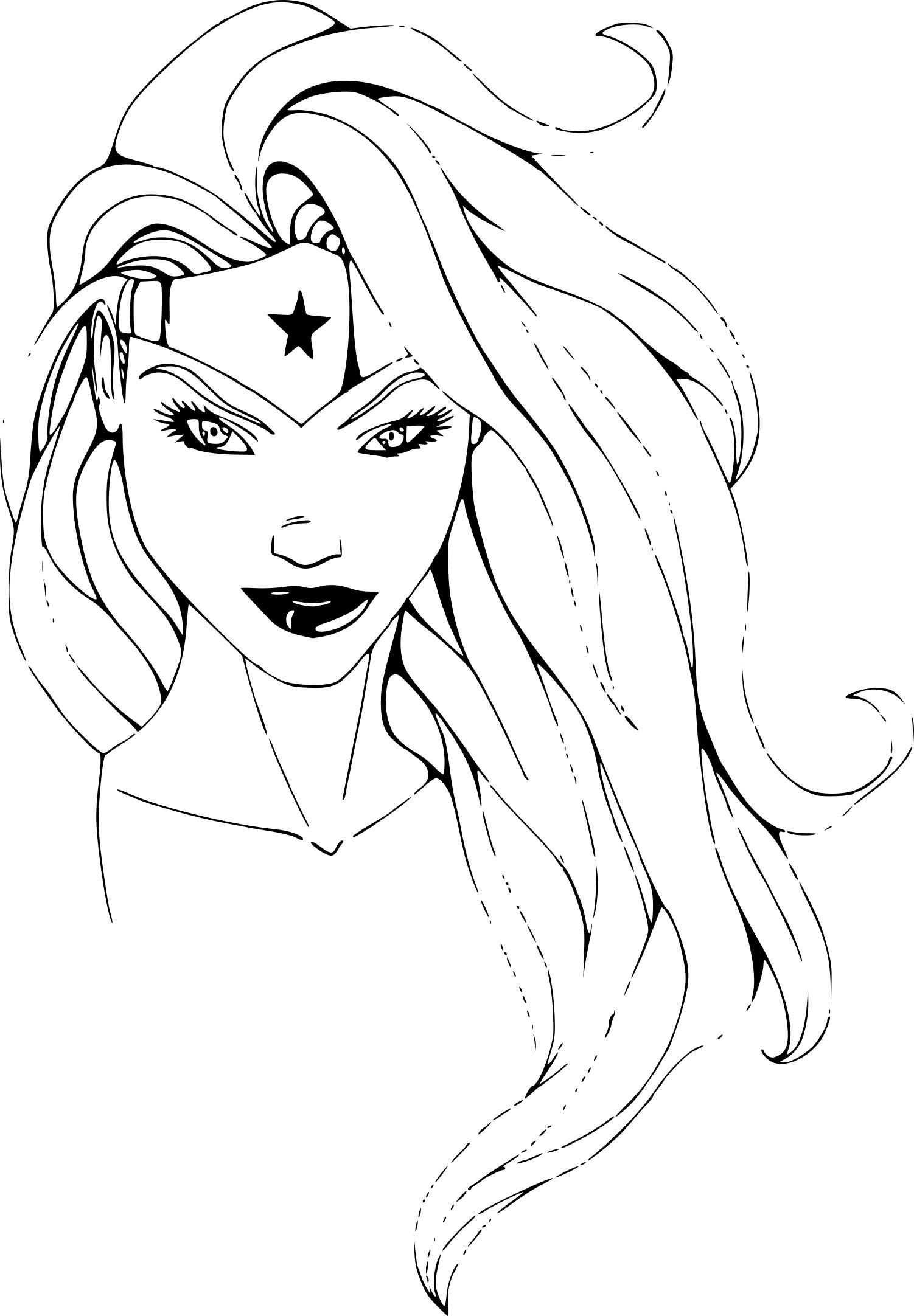 Dessin A Imprimer Wonder Woman encequiconcerne Visage À Colorier