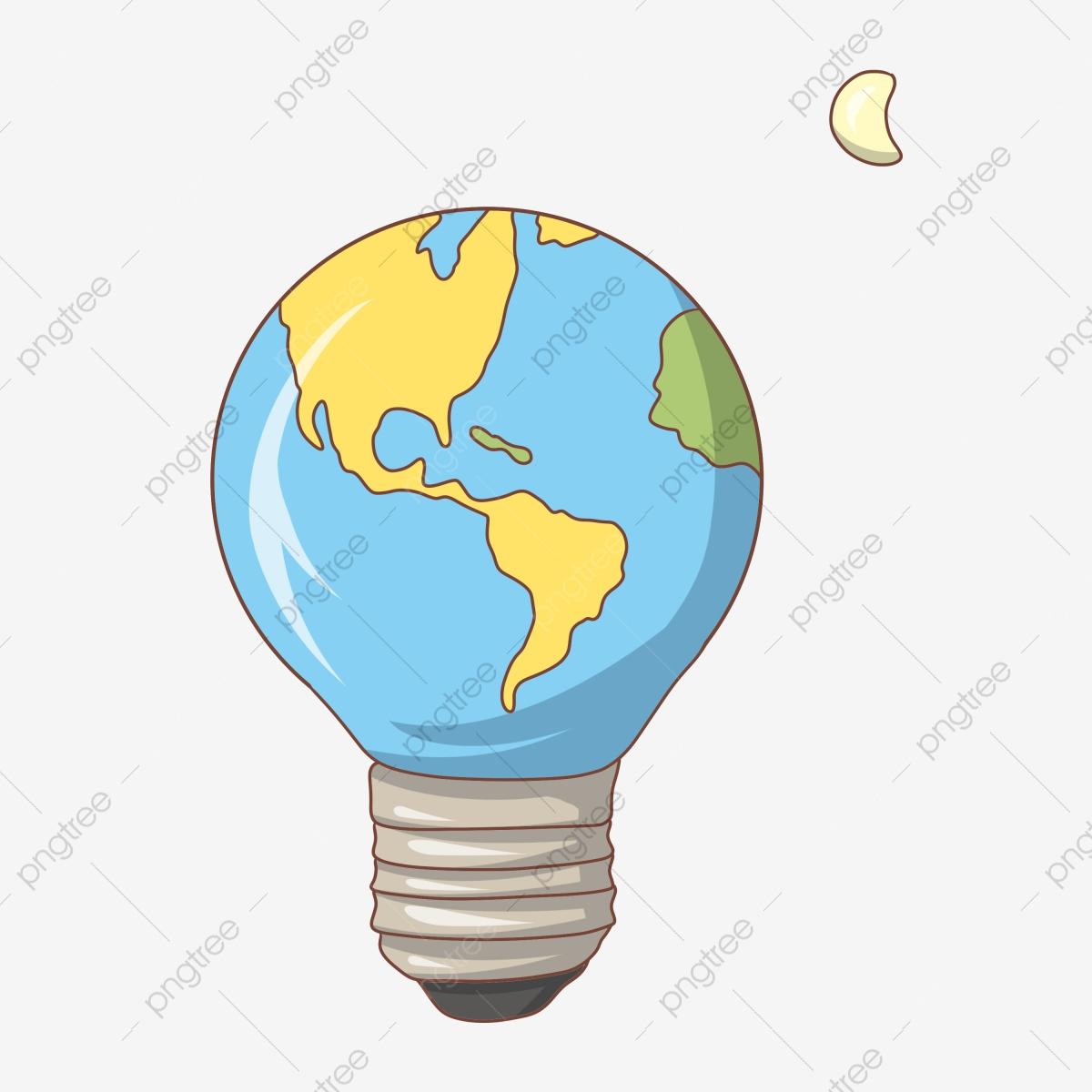 Dessin Animé Ampoule Ampoule Décorative De La Terre tout Image De La Terre Dessin