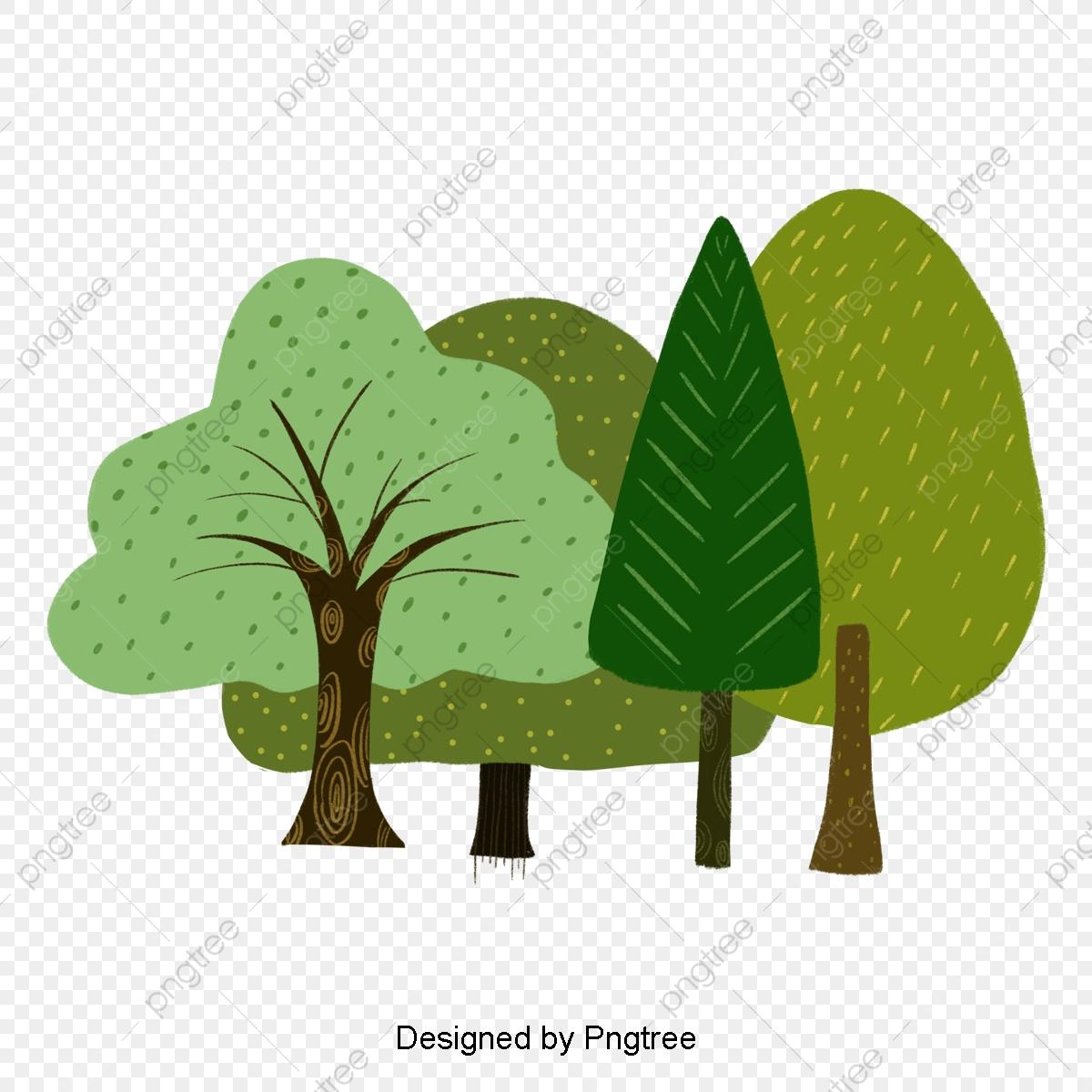 Dessin Animé D Arbres, Pale, Arbre, Forêt Fichier Png Et Psd destiné Dessin De Foret