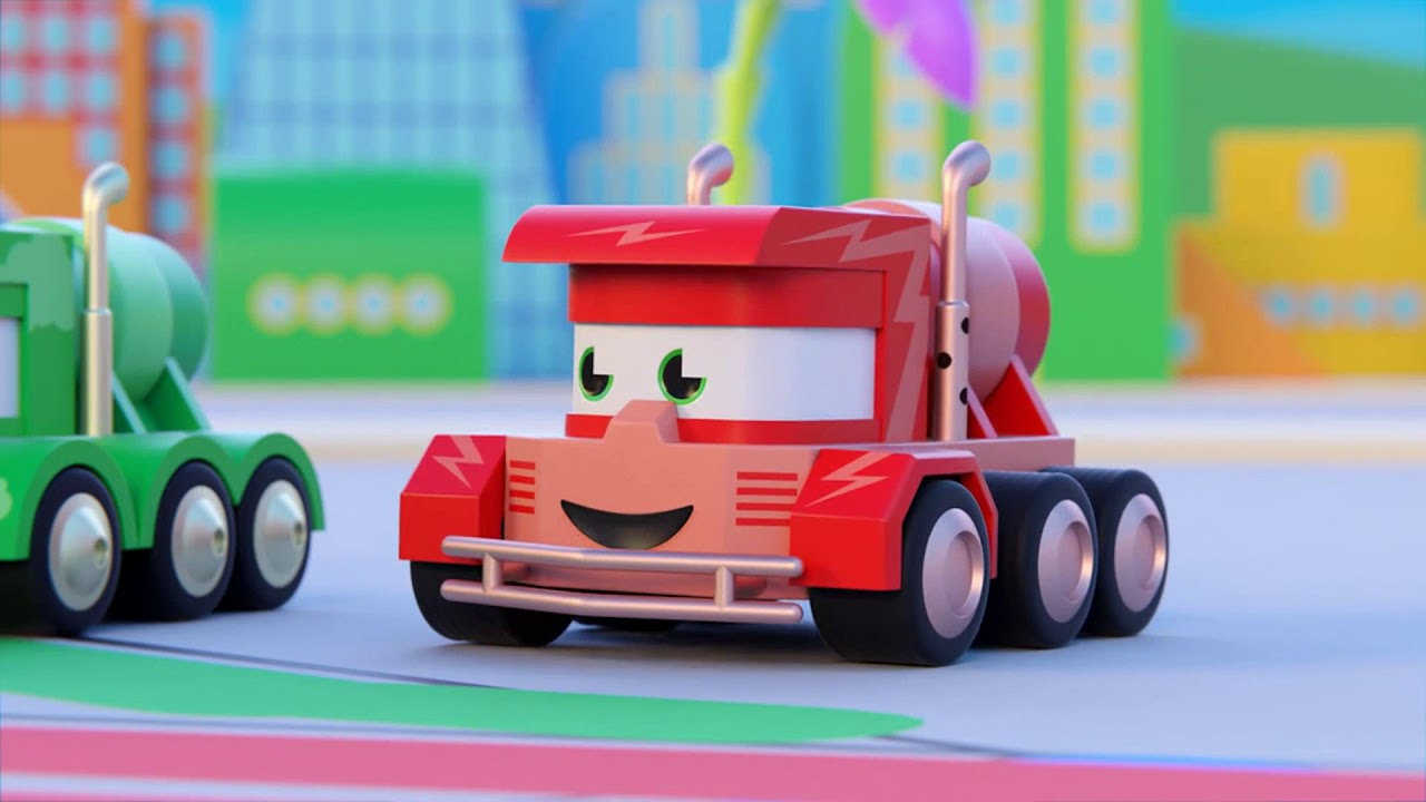 Dessin Animé De Camions Pour Enfants - Le Camion Artiste encequiconcerne Sam Le Tracteur Dessin Anime