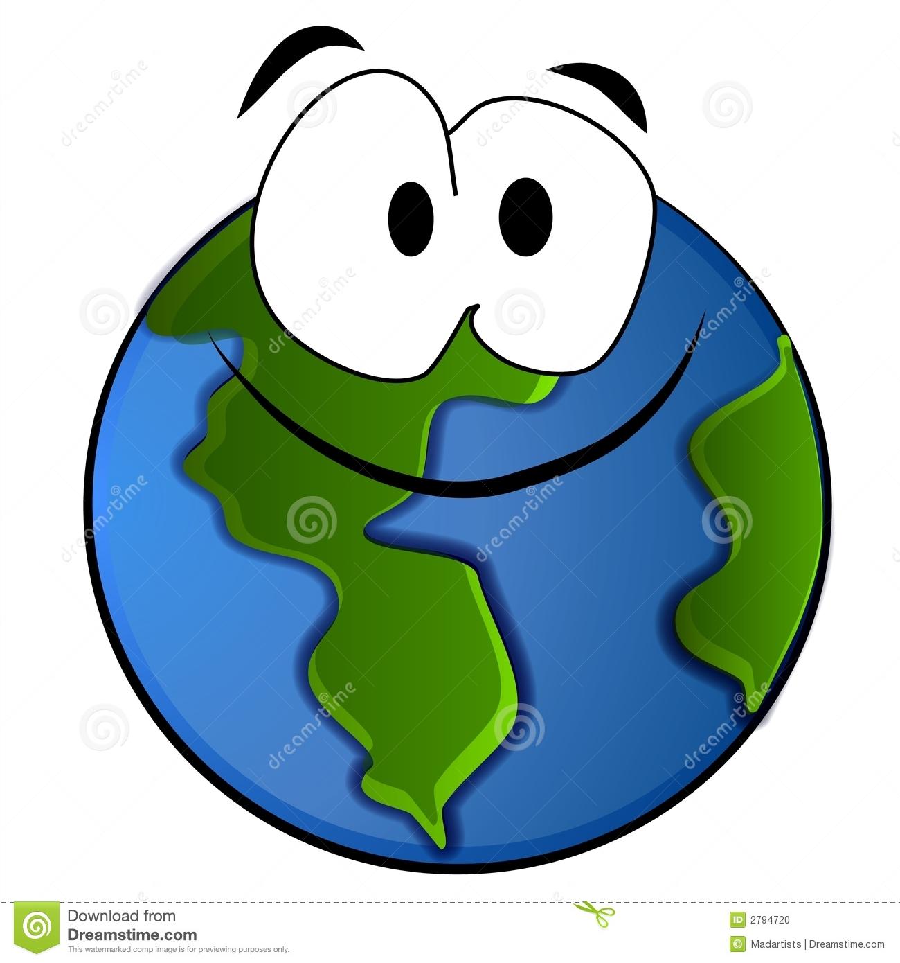 Dessin Animé De Sourire De La Terre De Planète Illustration encequiconcerne Image De La Terre Dessin