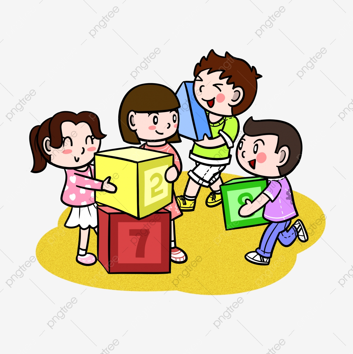 Dessin Animé Enfants Garçon Fille, Filles, Faire Des Jeux encequiconcerne Jeux Enfant Dessin