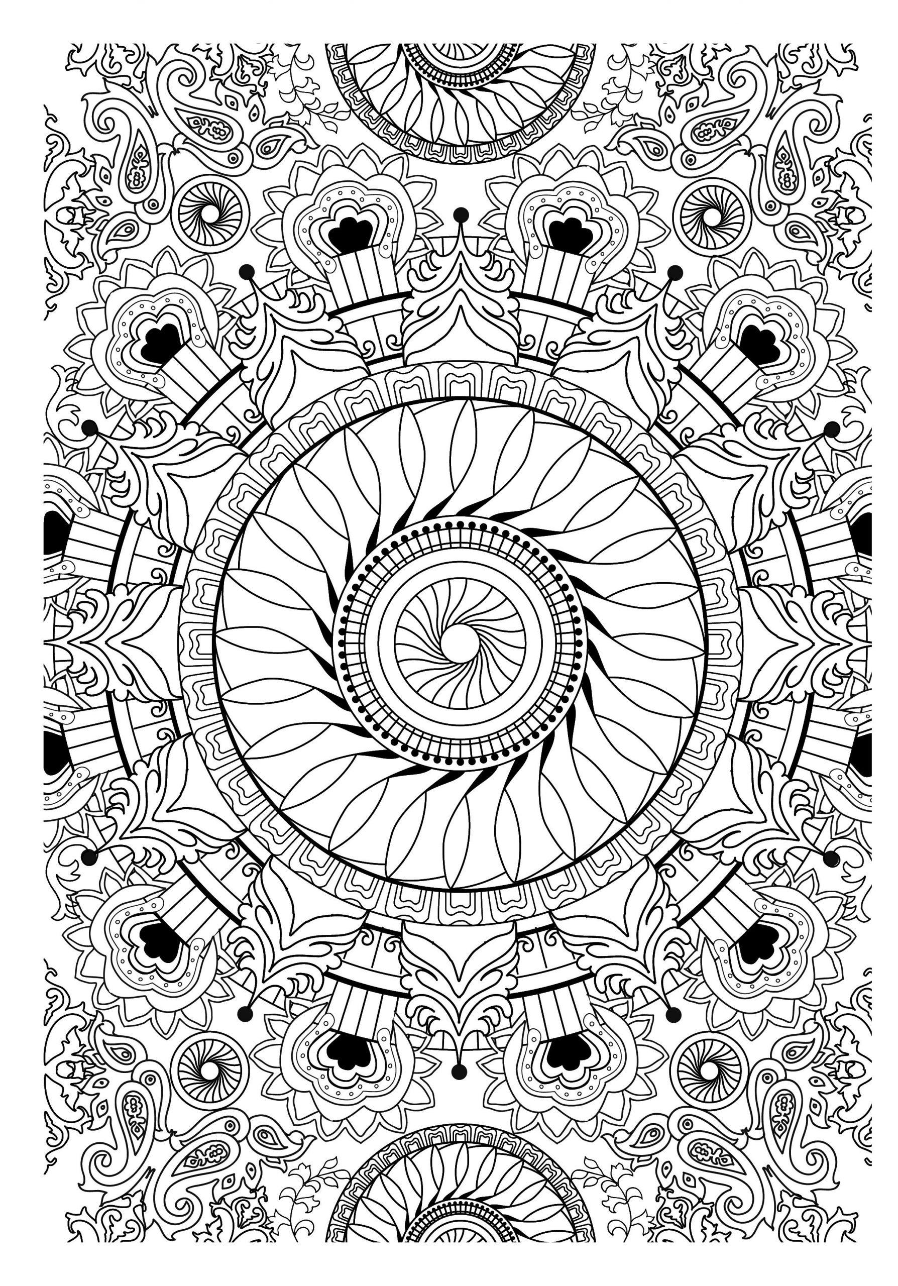 Dessin Anti-Stress À Imprimer #18874 | Coloriage Anti Stress tout Coloriage De Mandala Difficile A Imprimer