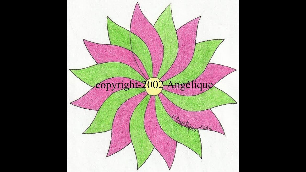 Dessin Au Compas 3 [Fleur, Rosace] pour Image De Rosace