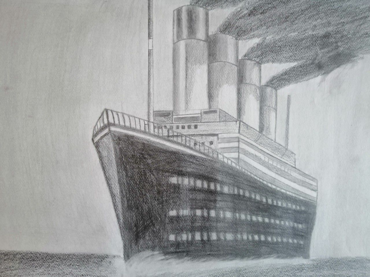 Dessin Au Crayon Graphite Du Paquebot Rms Titanic. | Dessin tout Paquebot Dessin