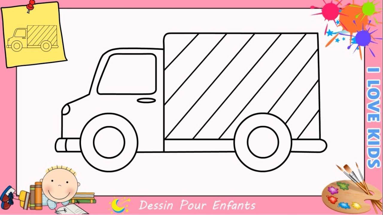 Dessin Camion Facile Etape Par Etape - Comment Dessiner Un Camion Facile intérieur Dessin D Un Camion