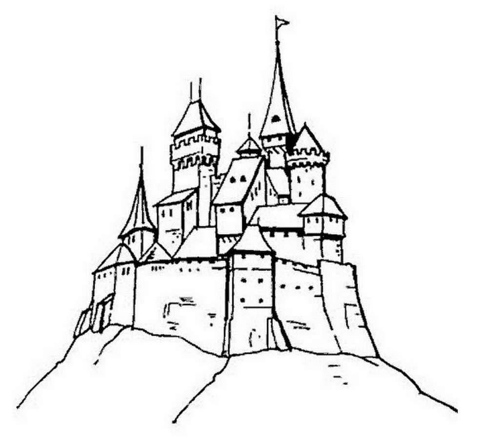 Dessin Chateau à Chateau De Princesse Dessin