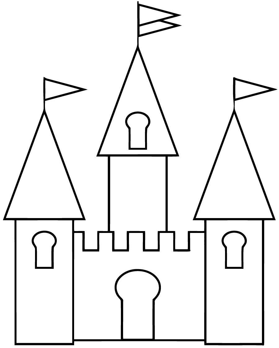 Dessin Chateau Simple Avec Coloriage Chateau 18400 Et serapportantà Chateau Princesse Dessin