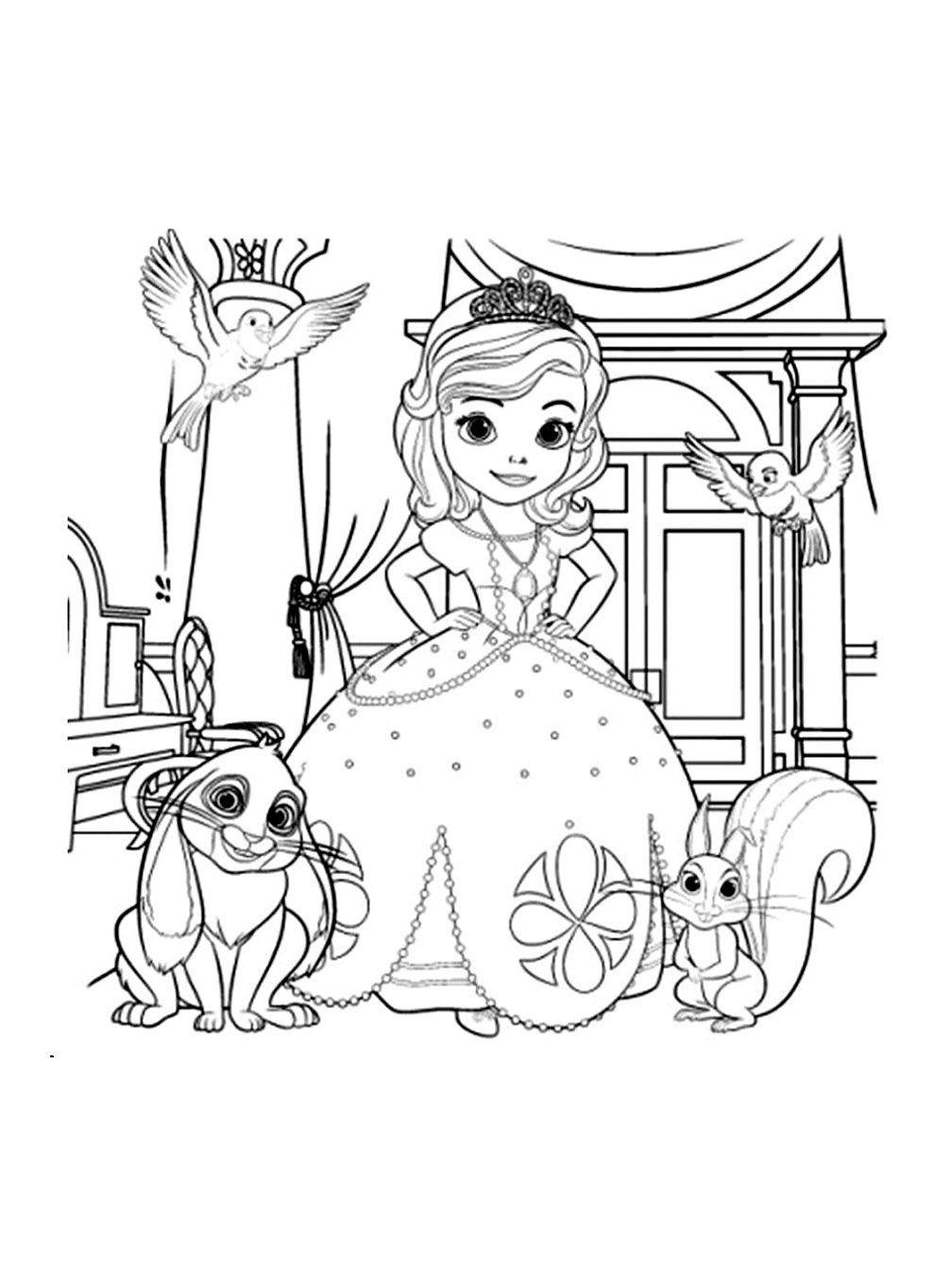 Dessin Coloriage Princesse Sophia | Coloriages À Imprimer serapportantà Coloriage À Imprimer Chateau De Princesse