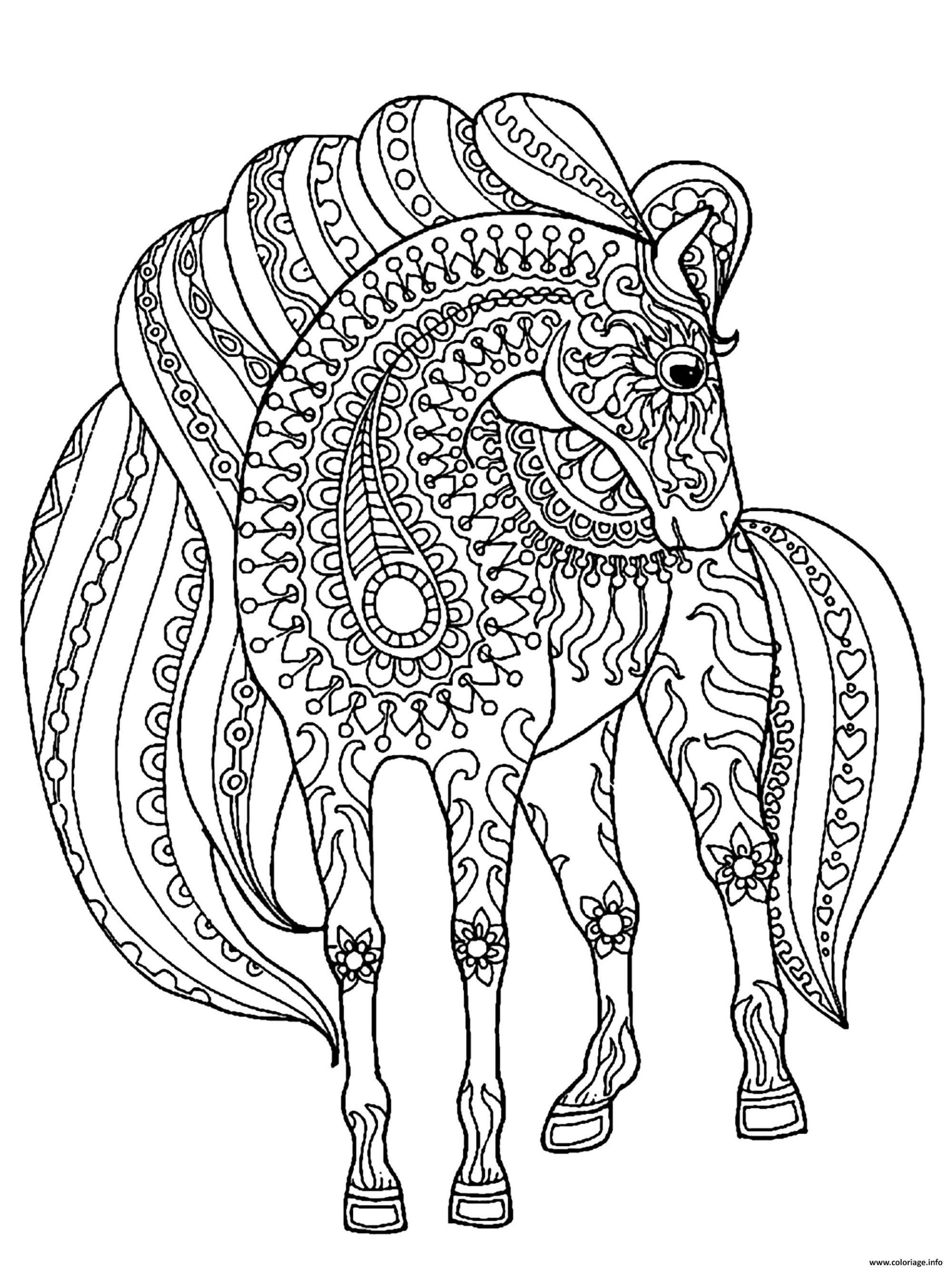 Dessin De Cheval Easy | Coloriage Kids serapportantà Image De Cheval A Colorier