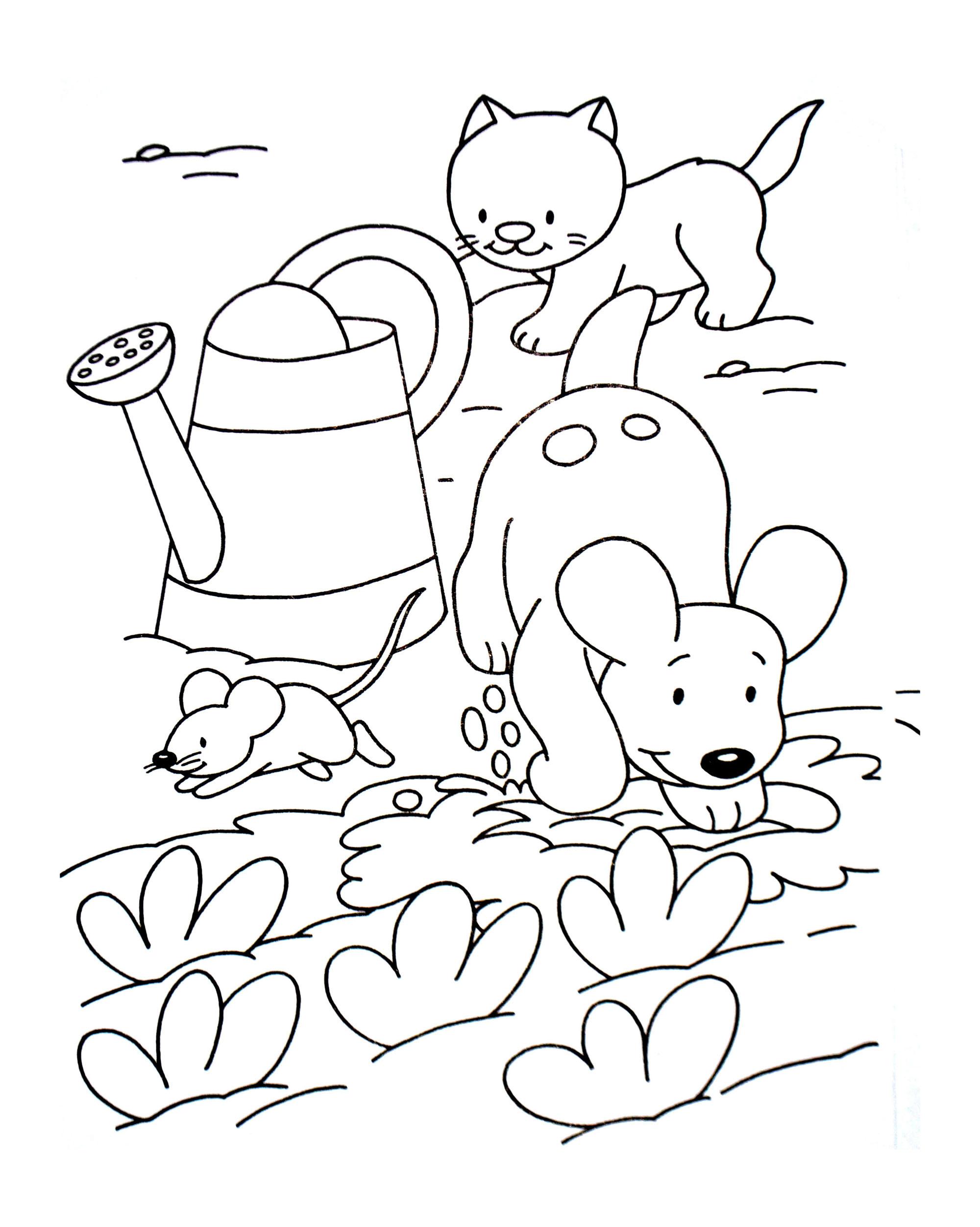 Dessin De Chien Gratuit À Imprimer Et Colorier - Coloriages à Animaux A Dessiner Imprimer