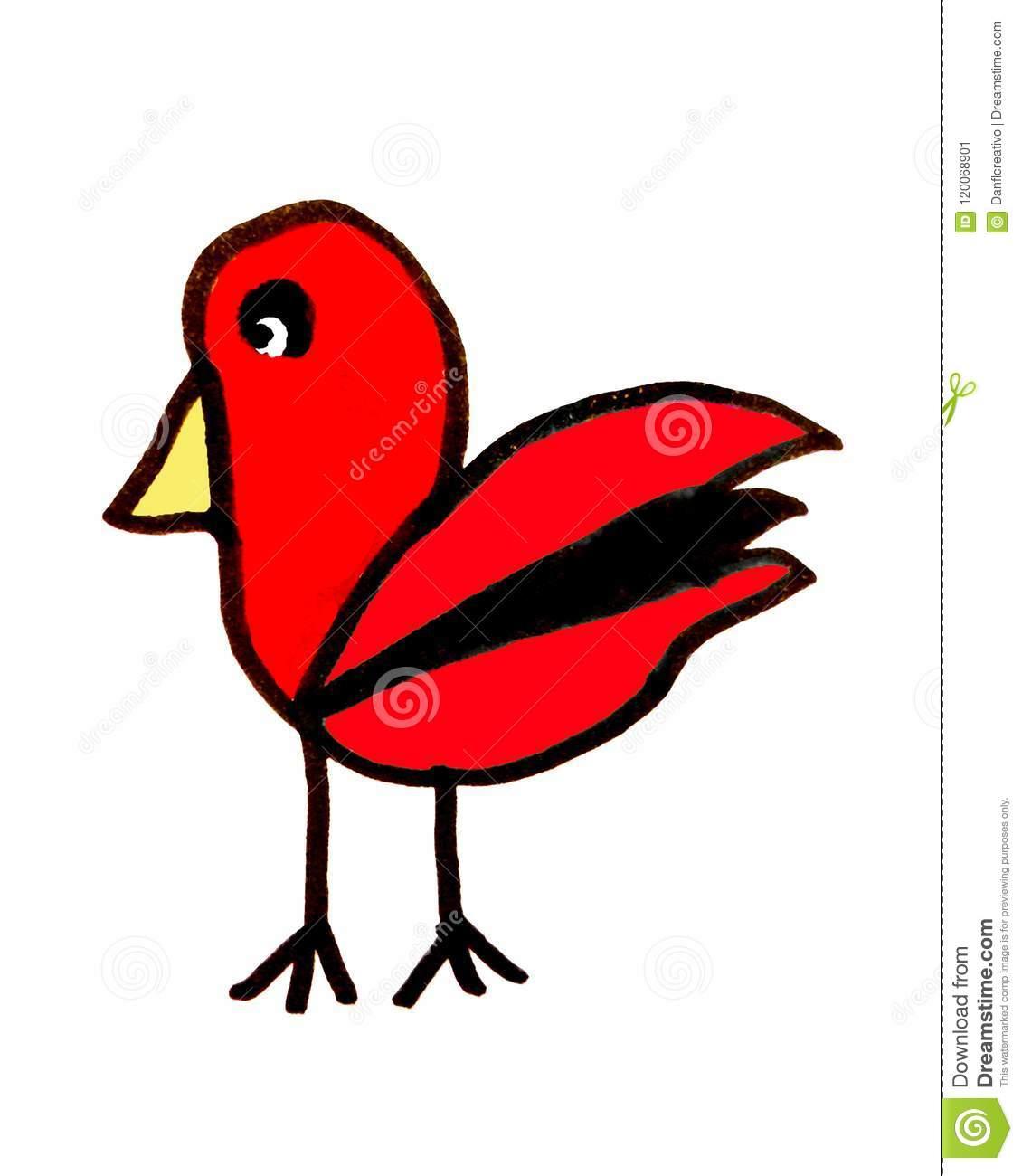 Dessin De Croquis D'oiseau Illustration Stock. Illustration encequiconcerne Dessin D Oiseau Simple