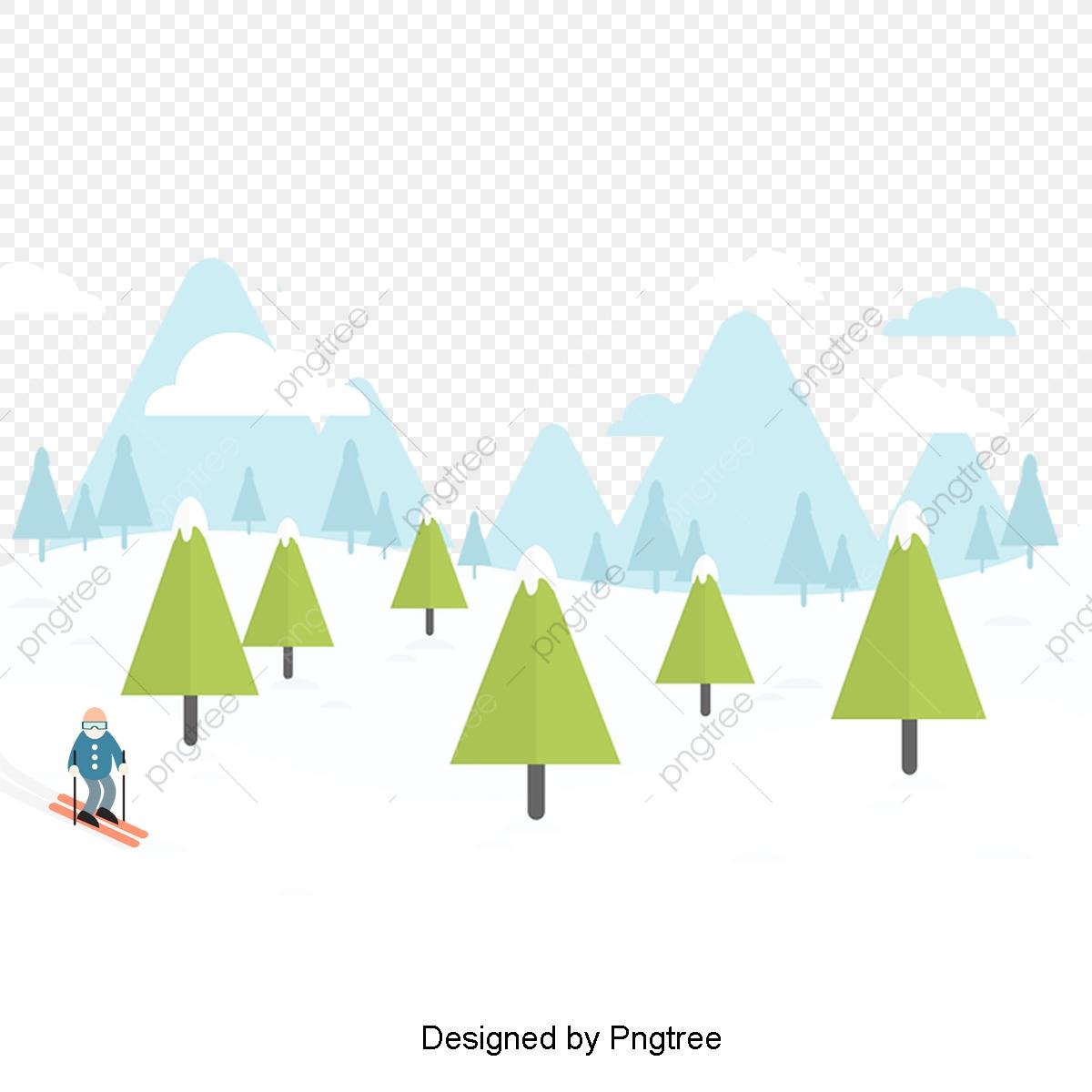 Dessin De Paysage D'hiver De Fond, Cartoon, L'hiver, L'hiver pour Dessin De Paysage D Hiver