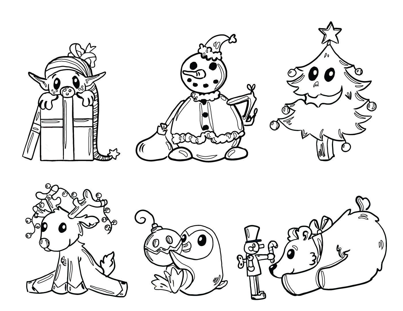 Dessin Des Amis Du Père Noel À Imprimer Gratuit serapportantà Coloriage De Pere Noel A Imprimer Gratuitement