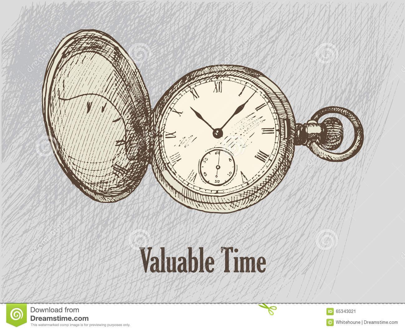 Dessin D'horloge De Wintage Illustration De Vecteur dedans Dessin D Horloge