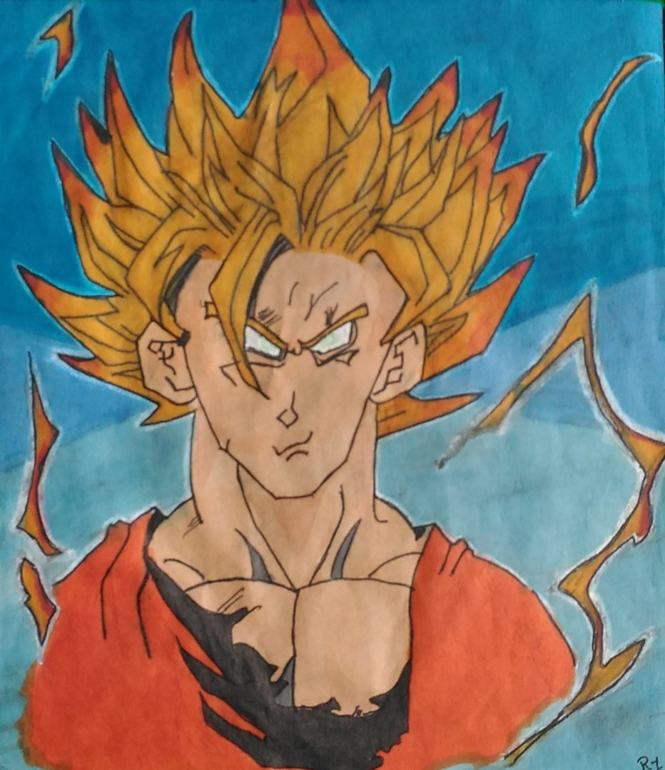 Dessin Dragon Ball Z: Goku Drawing By R1 | Artmajeur tout Dessin Animé De Dragon Ball Z