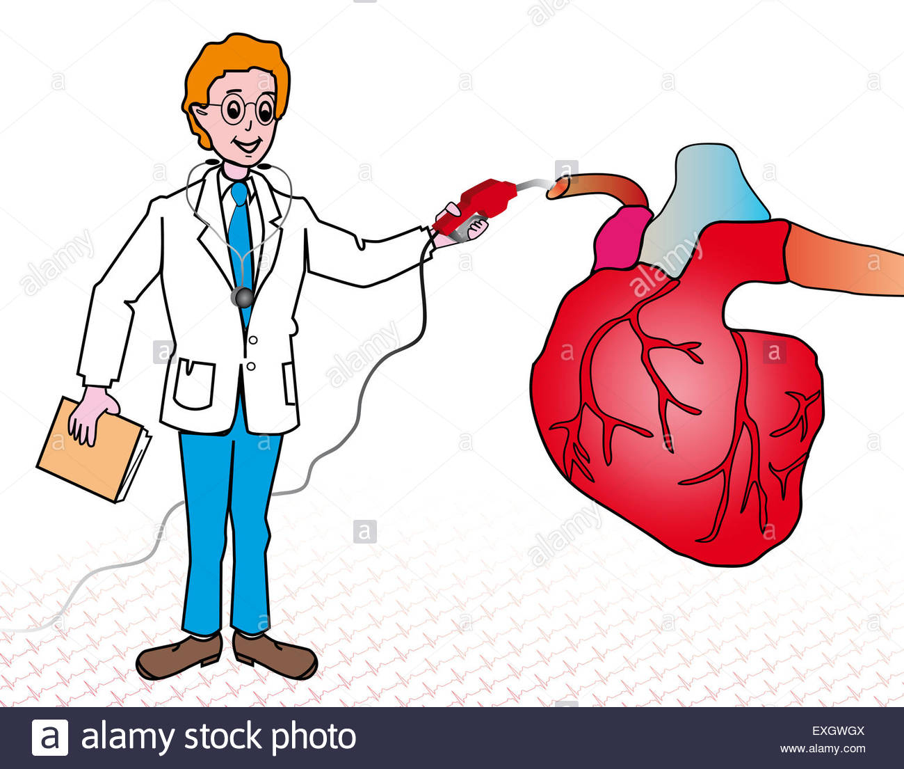 Dessin D'un Cœur Et D'un Médecin Avec Un Stéthoscope À Après avec Dessin Stéthoscope