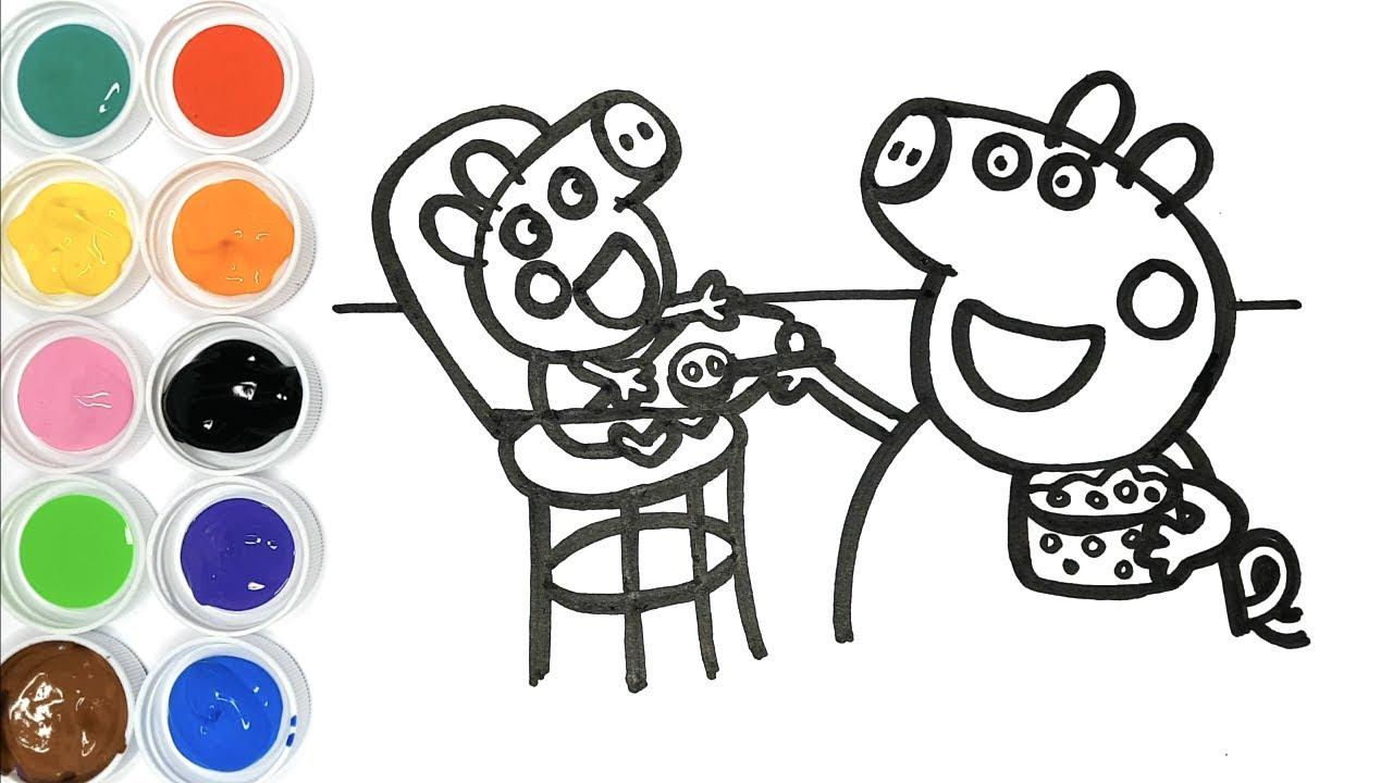 Dessin Et Coloriage Peppa Pig Et Bébé Alexandre - Dessin Pour Bébé destiné Peppa Pig A Colorier