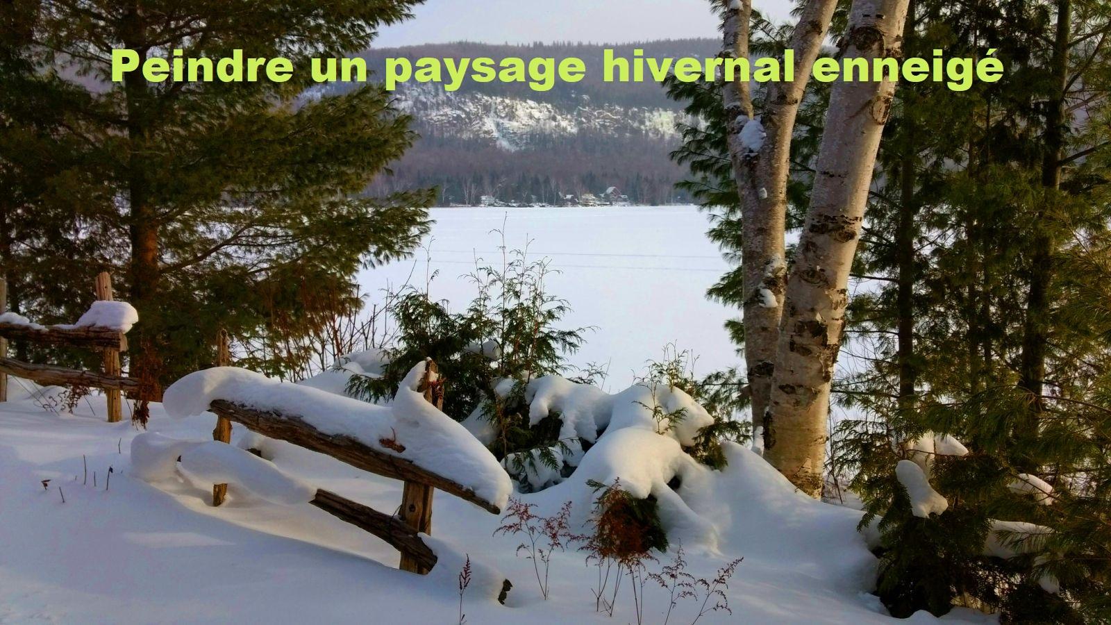 Dessin Et Peinture - Vidéo 2627 - Peindre Un Paysage D'hiver intérieur Dessin De Paysage D Hiver